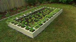 un jardin sur lev en blocs de b ton jardinier paresseux. Black Bedroom Furniture Sets. Home Design Ideas