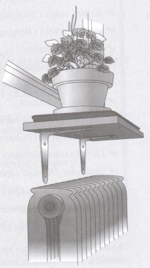 perfect comment cultiver des plantes audessus duun radiateur with tablette au dessus d un radiateur. Black Bedroom Furniture Sets. Home Design Ideas