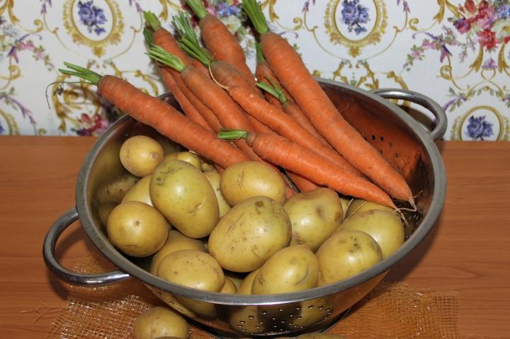 Vegetables Carrots Food Garden Potatoes Eat