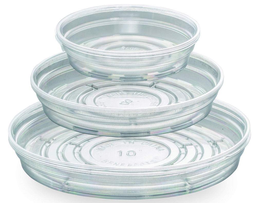Différentes tailles de soucoupes transparentes